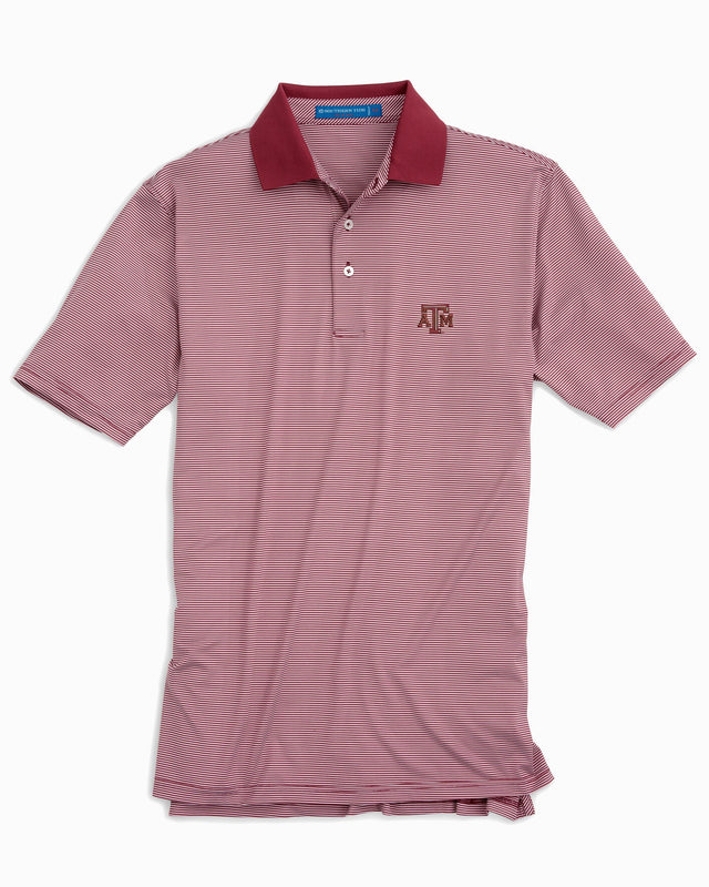 Texas A&M Aggies Striped Polo Shirt | Southern Tide