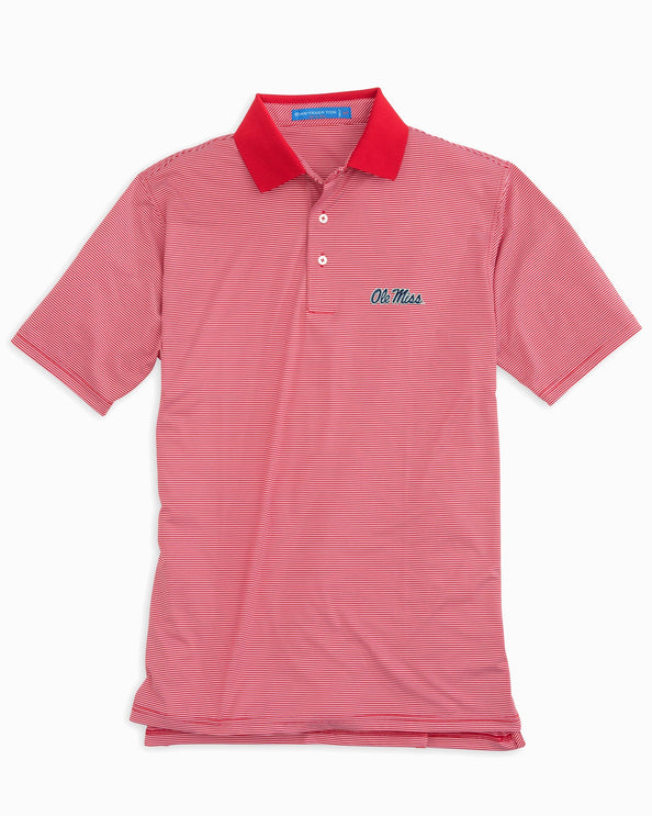 Image of Gameday Feeder Stripe Polo - University of Mississippi