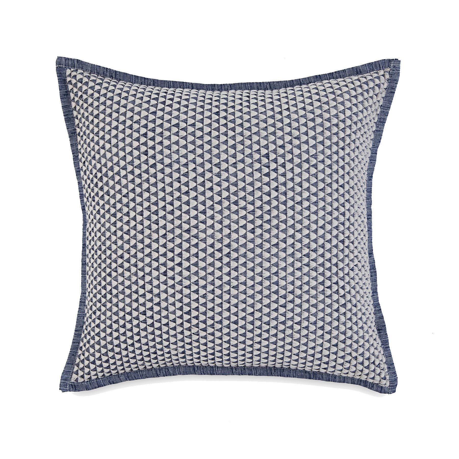 Bayside Navy Eyelet Throw Pillow Southern Tide