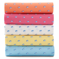 The stack view of the Printed Cotton Sheet Set by Southern Tide