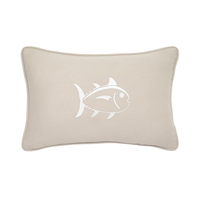 Embroidered Skipjack 12x18 Breakfast Pillow