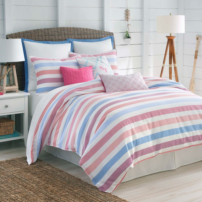 Long Bay Stripe Comforter Set | Southern Tide