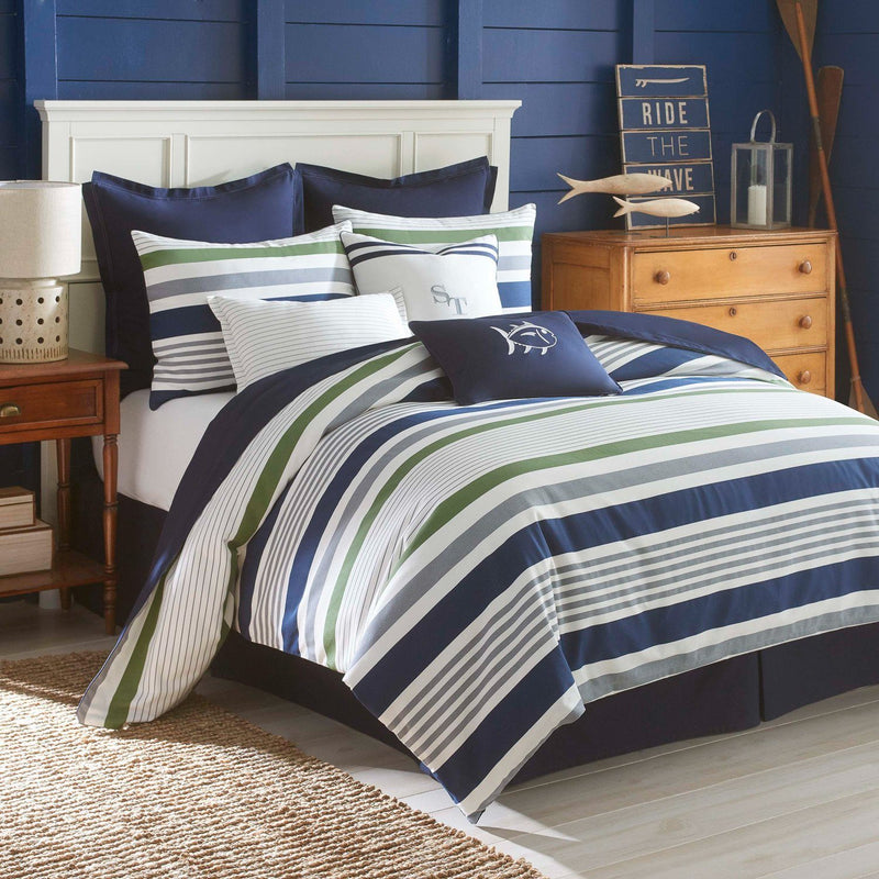 Sullivan Stripe Reversible Comforter Set
