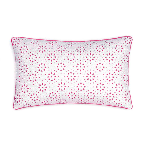 Long Bay Stripe Geo Eyelet Decorative Pillow | Southern Tide
