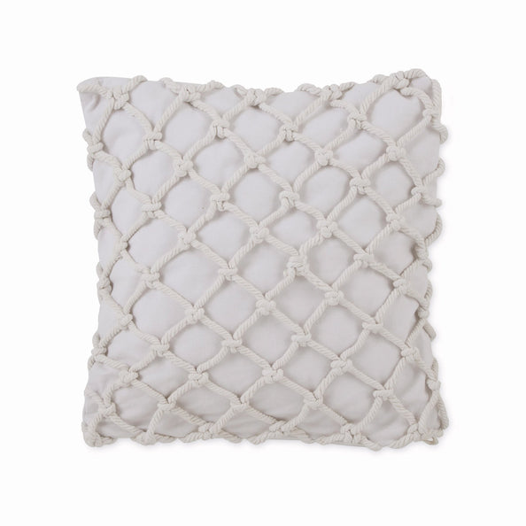 Image of Skipper Stripe Collection Knotted Rope Decorative Pillow