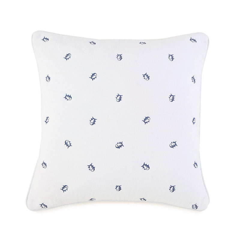 Skipjack Quilted Embroidered Decorative Pillow | Southern Tide