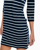 The front view of the Women's Adie Performance Knit Dress by Southern Tide