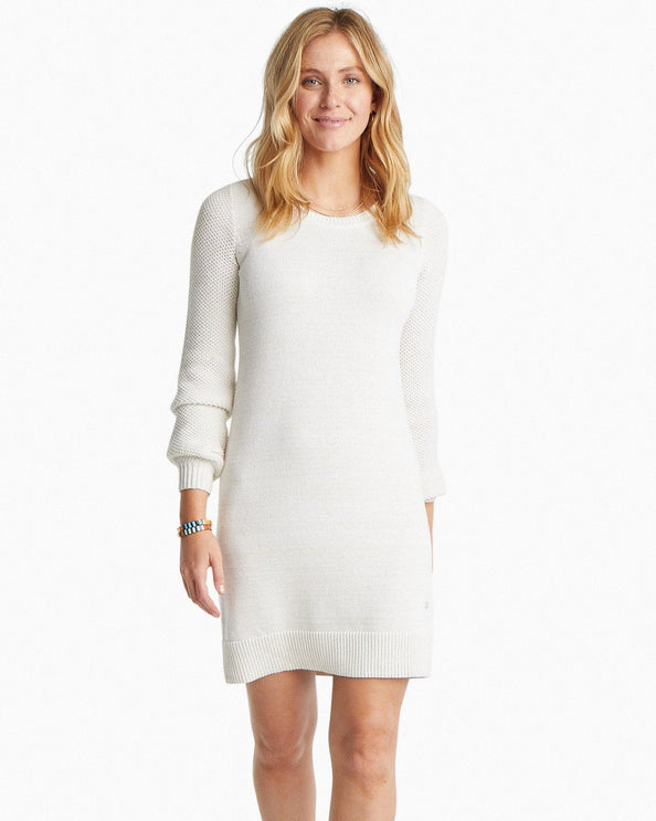 Adrienne Metallic Sweater Dress