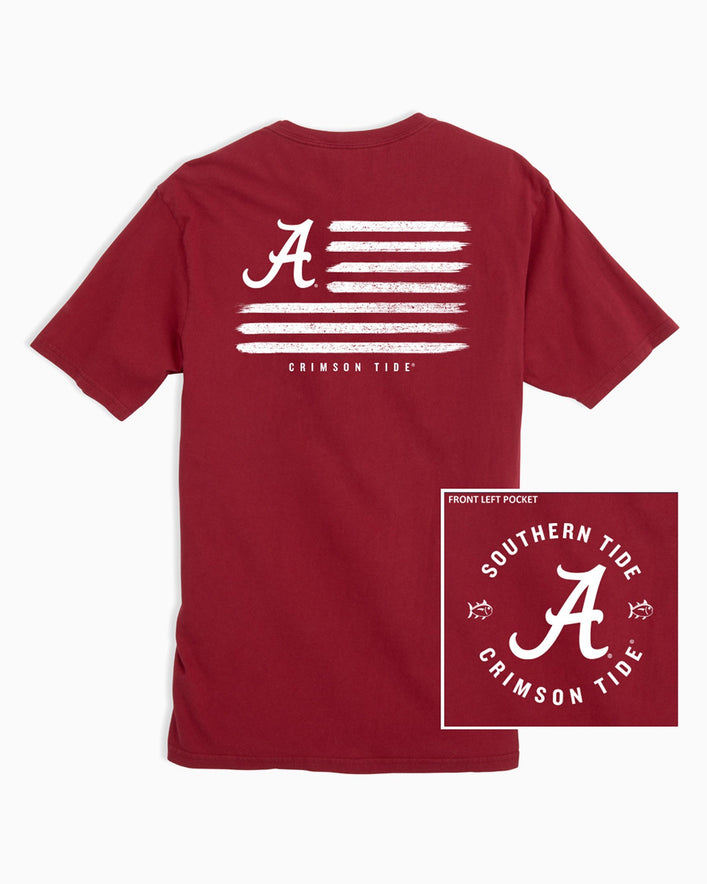 Alabama Crimson Tide Flag T-Shirt