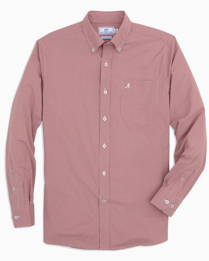 Alabama Crimson Tide Gingham Button Down Shirt