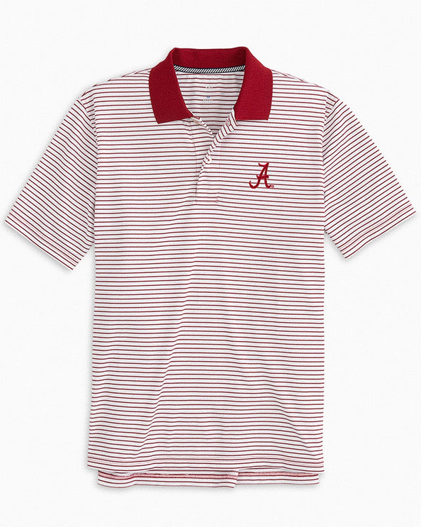 Alabama Crimson Tide Pique Striped Polo Shirt