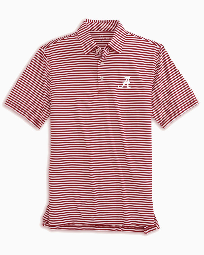 Alabama Crimson Tide Striped Polo Shirt
