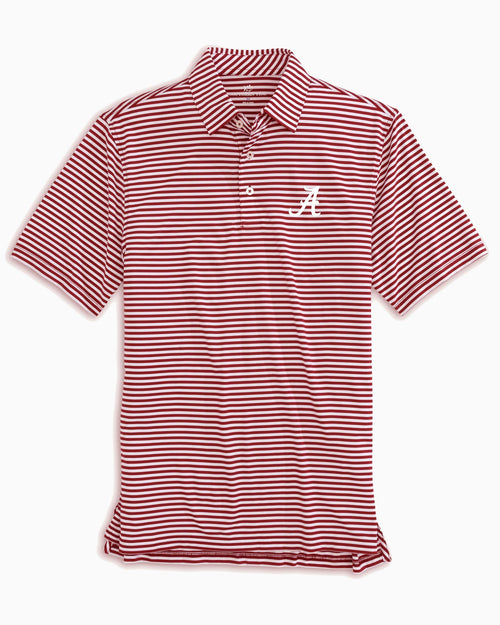 Alabama Crimson Tide Striped Polo Shirt | Southern Tide