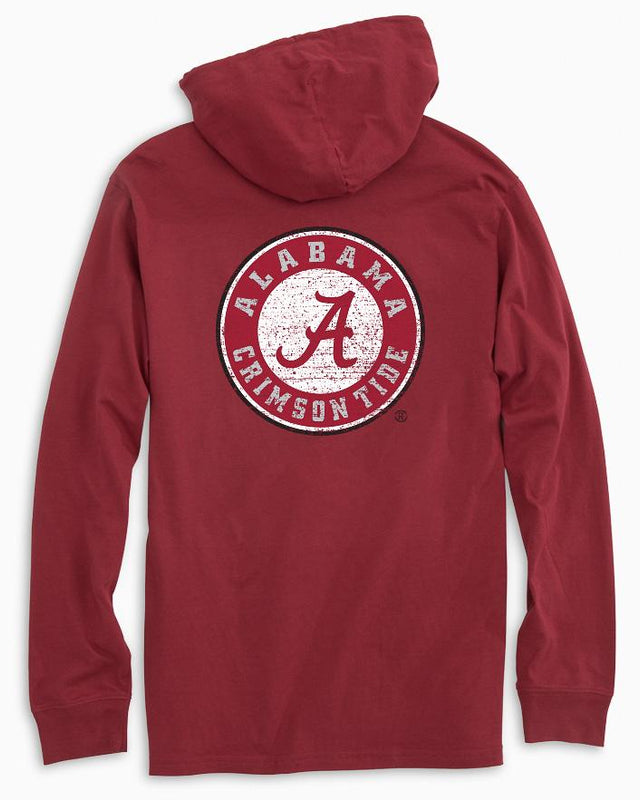 Alabama Crimson Tide Long Sleeve Hoodie T-Shirt | Southern Tide