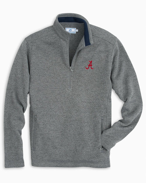 Alabama Sweater Fleece Quarter Zip | Southern Tide