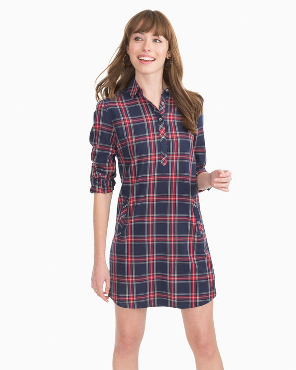 Alyssa Plaid Shirt Dress