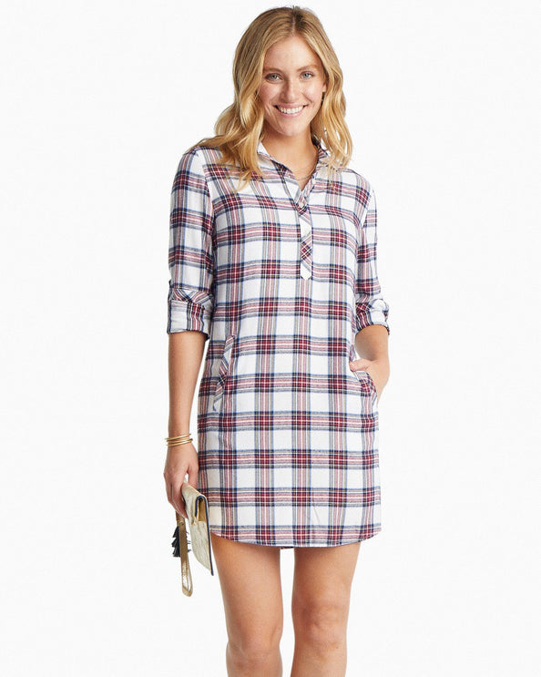 Alyssa Wintertime Plaid Shirtdress