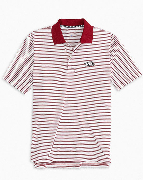 Arkansas Razorbacks Pique Striped Polo Shirt