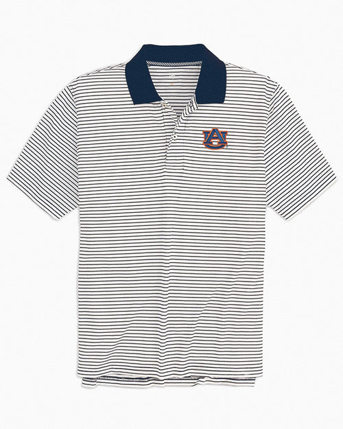 Auburn Tigers Pique Striped Polo Shirt | Southern Tide