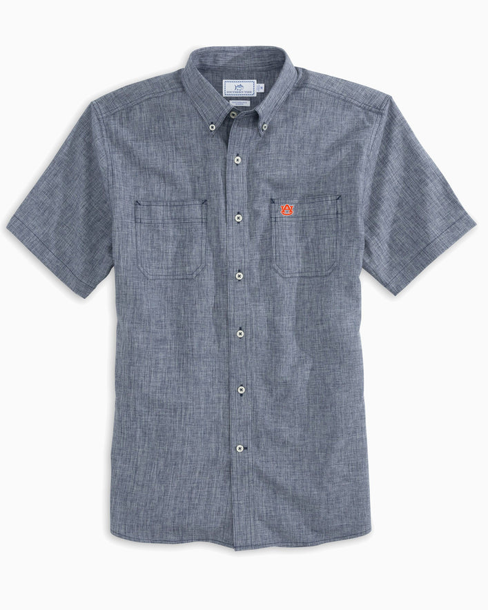 Auburn Tigers Short Sleeve Button Down Dock Shirt