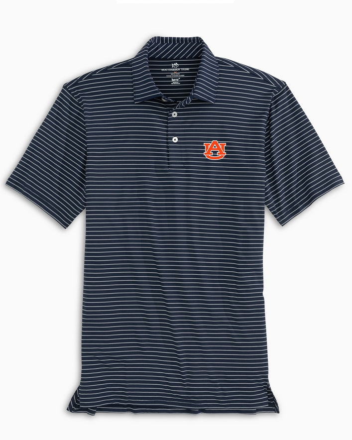 Auburn Tigers brrr® Striped Polo Shirt