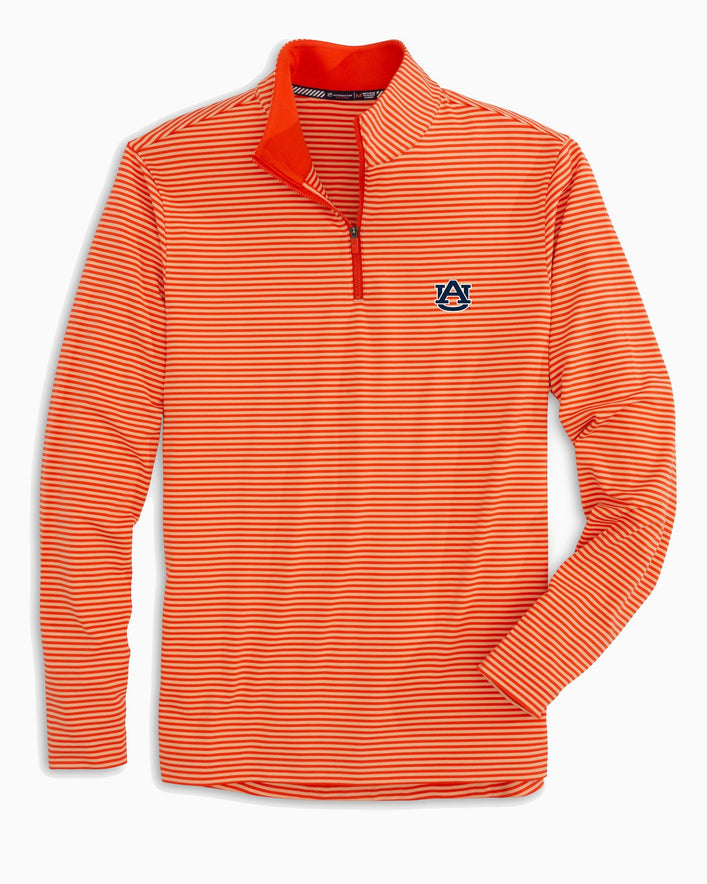 Auburn Tigers Striped Quarter Zip Pullover
