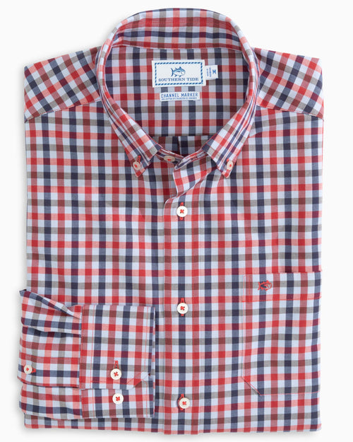 Barren Gingham Channel Marker Sport Shirt | Southern Tide