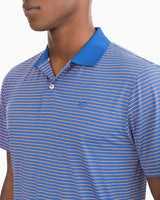 Barrier Striped Performance Polo Shirt | Southern Tide