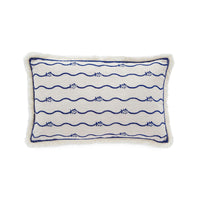 Bayside Embroidered Skipjack Throw Pillow | Southern Tide