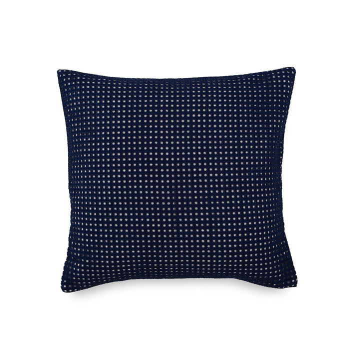 Bayside Navy Eyelet Throw Pillow