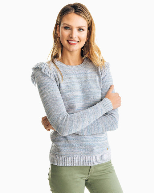 Bea Tassel Crew Neck Sweater | Southern Tide