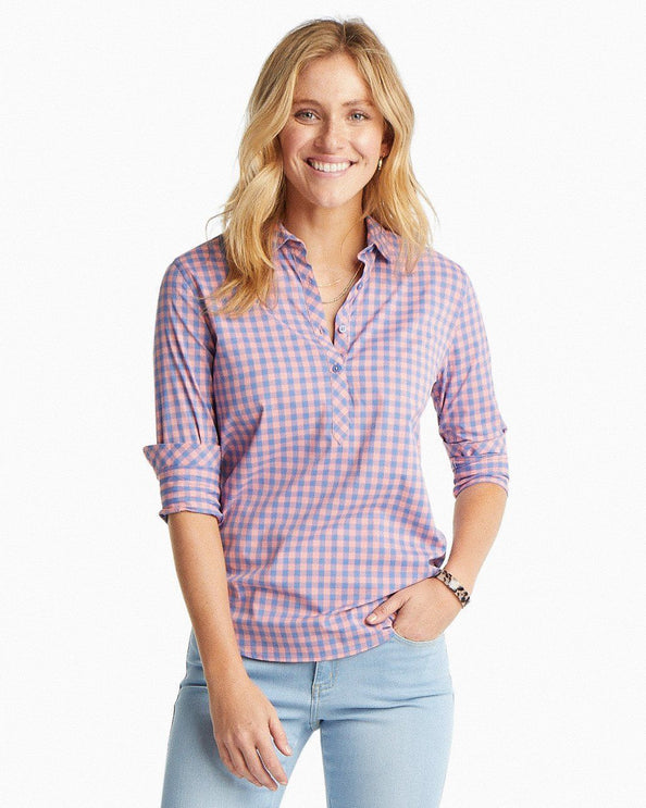 Hadley Checked Intercoastal Performance Popover Shirt