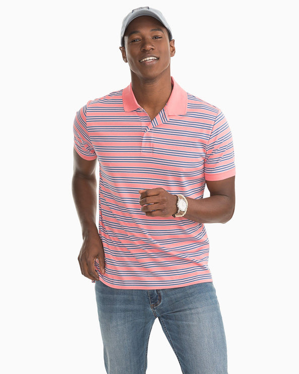 Beach Way Striped Polo Shirt