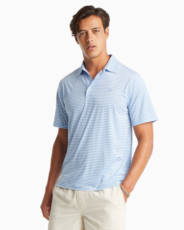 Bimini Striped brrr® Performance Polo Shirt