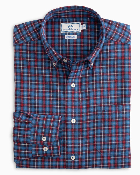 Blitzen Plaid Performance Button Down Shirt