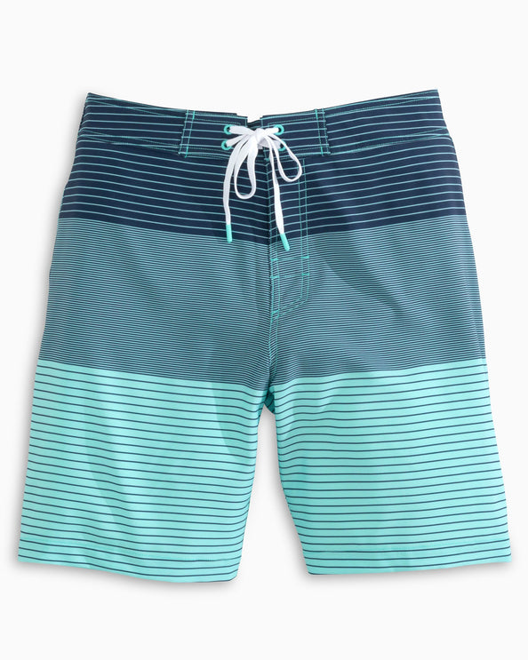 Blue Ombre Striped Swim Short