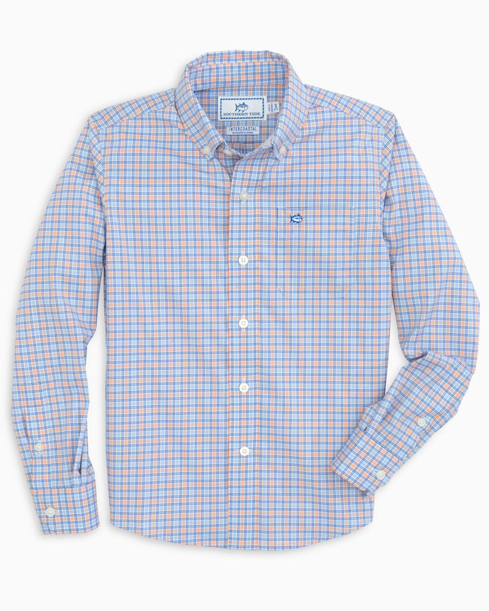 Boys Agate Intercoastal Performance Button Down Shirt