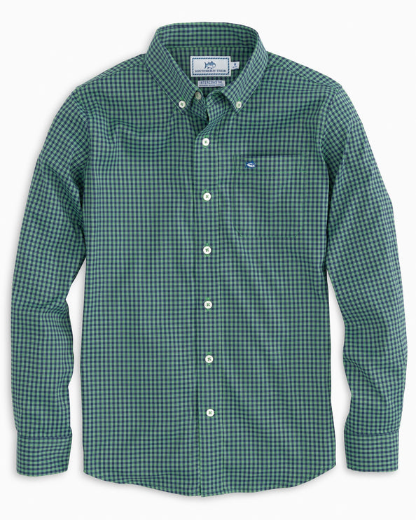 Boys Asilomar Intercoastal Check Button Down Shirt