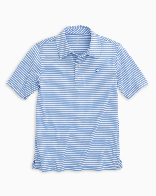 Boys Bimini Striped Performance Polo Shirt
