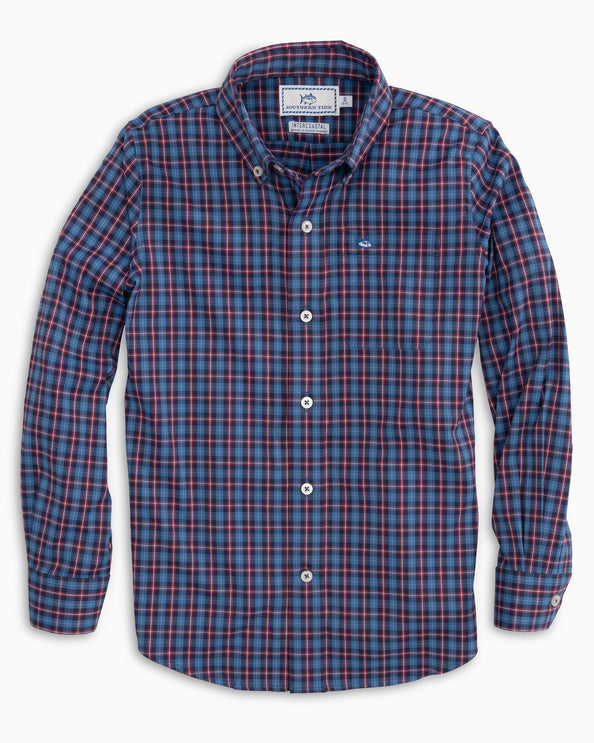 Boys Blitzen Plaid Intercoastal Button Down Shirt