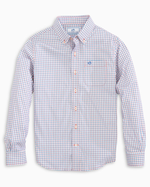 Boys Check Intercoastal Button Down Shirt