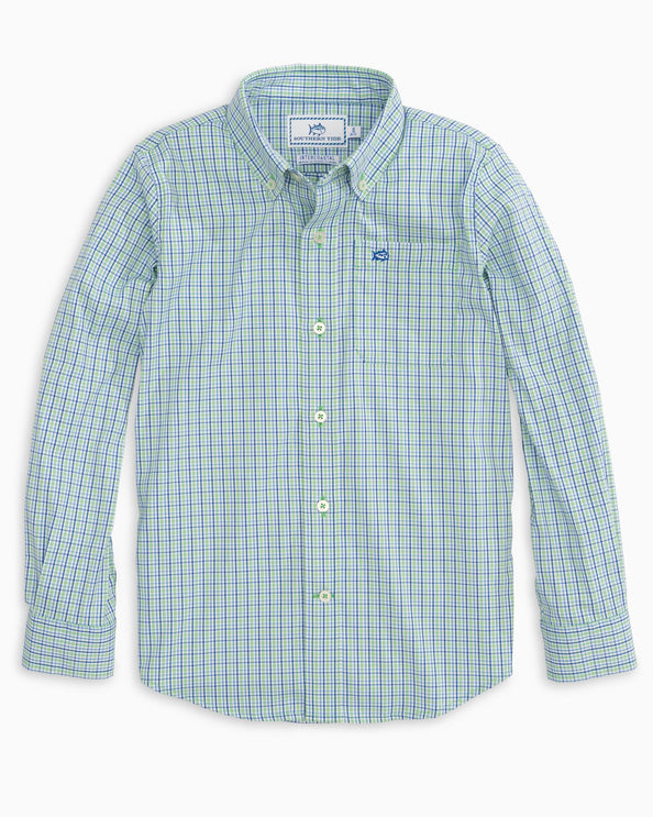 Boys Jibe Plaid Intercoastal Button Down Shirt