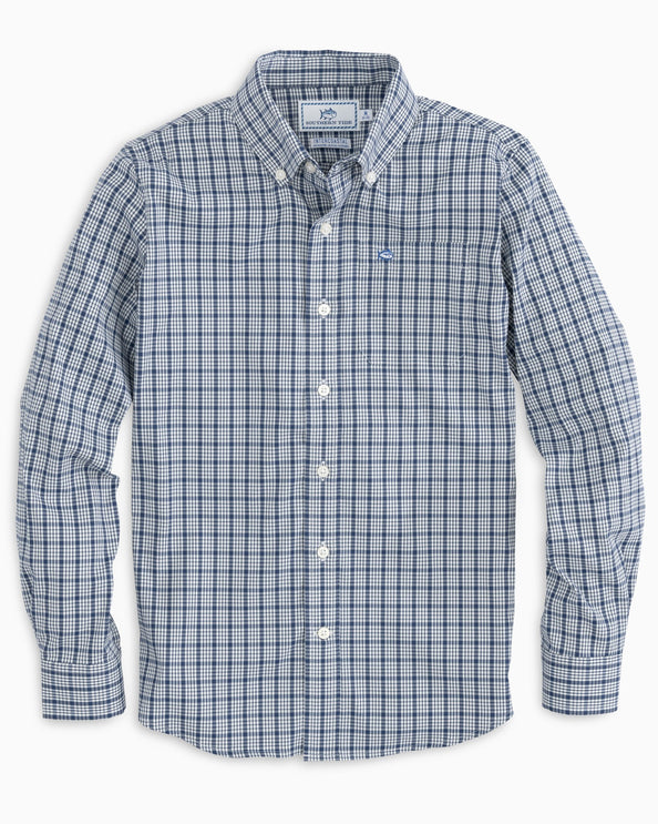 Boys Kreisel Intercoastal Plaid Button Down Shirt