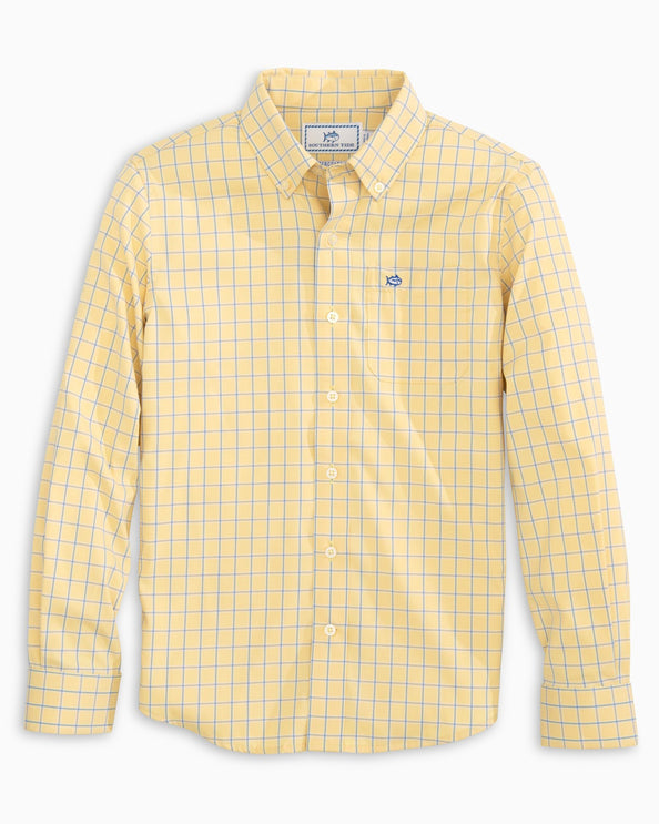 Boys Mini Check Intercoastal Button Down Shirt