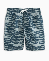 Boys Ocearch Shark Frenzy Swim Trunk | Southern Tide