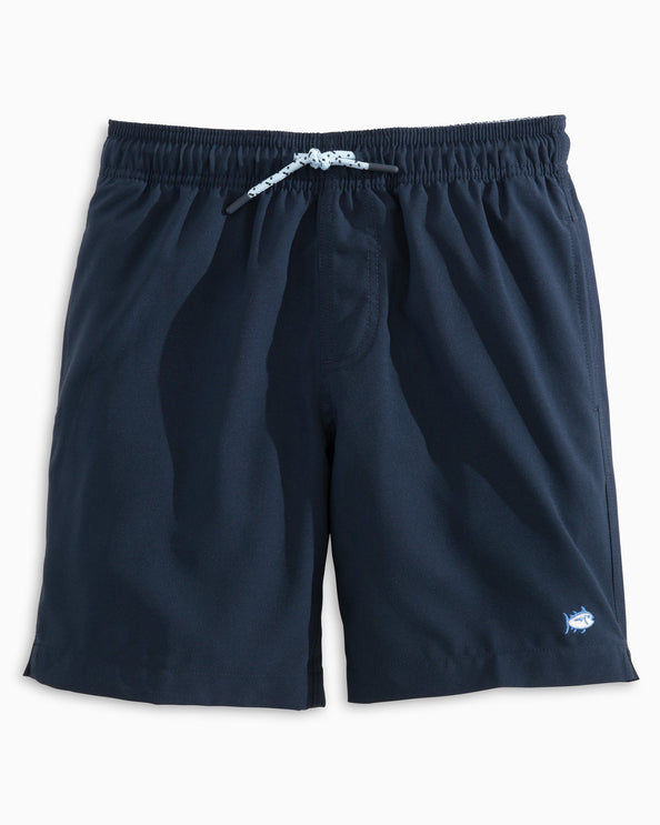 Boys Solid Swim Trunks