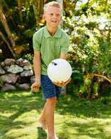 Boys Jack Heathered Performance Pique Polo Shirt | Southern Tide