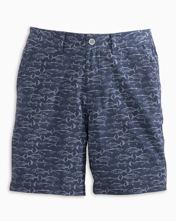 Boys Fish Print T3 Gulf Short