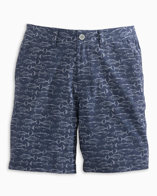 Boys Fish Print T3 Gulf Short | Southern Tide