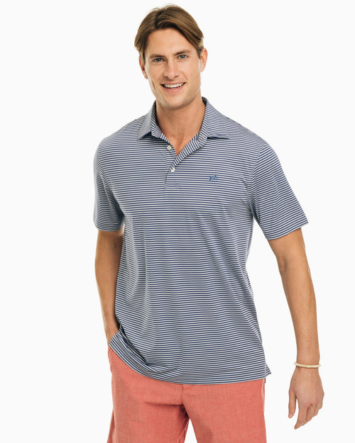 Driver Striped Brrr Performance Polo Shirt | Southern Tide
